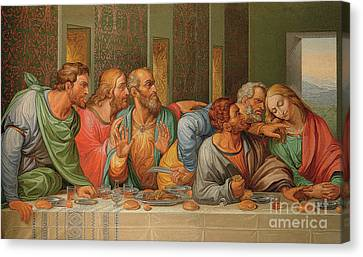 Last Supper Canvas Print by Giacomo Raffaelli