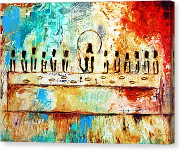 Last Supper Canvas Print - Last Supper Iv by Ivan Guaderrama