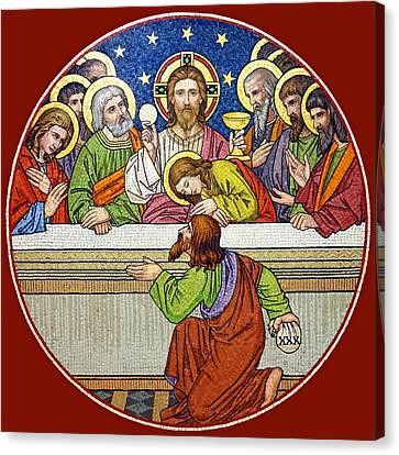 Last Supper Mosaic Canvas Print