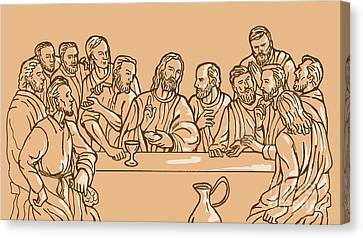 last supper of Jesus Christ Canvas Print by Aloysius Patrimonio