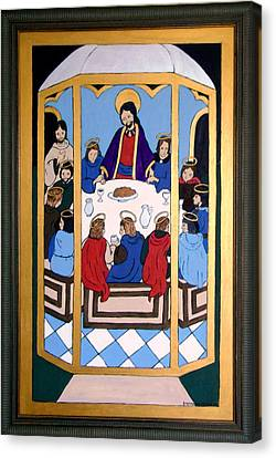 Canvas Print featuring the painting Last Supper by Stephanie Moore