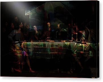 Last Supper...after Philippe De Champaigne Canvas Print by Paul Sutcliffe