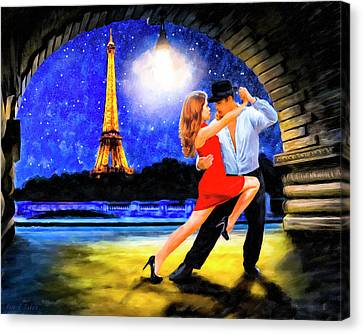 Canvas Print featuring the mixed media Last Tango In Paris by Mark Tisdale