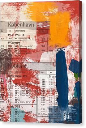 Loft Canvas Print - Last Train To Kobenhavn- Art By Linda Woods by Linda Woods