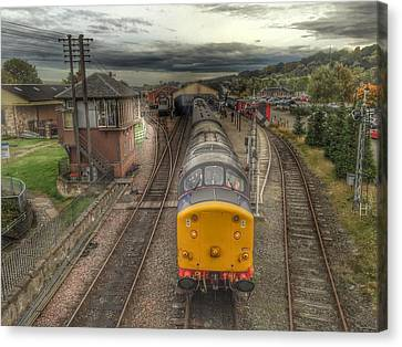 Canvas Print featuring the photograph Last Train To Manuel by RKAB Works
