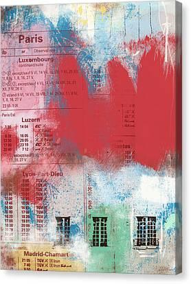 Loft Canvas Print - Last Train To Paris- Art By Linda Woods by Linda Woods