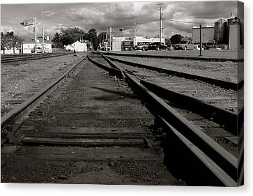 Last Train Track Out Canvas Print