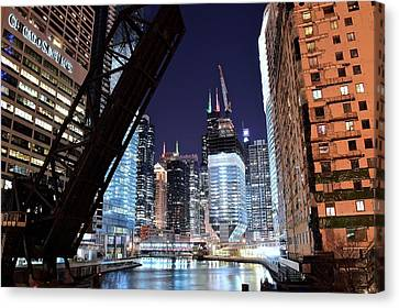 Last View Of Sears Tower Canvas Print by Frozen in Time Fine Art Photography