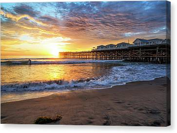 Last Wave Of The Day Canvas Print