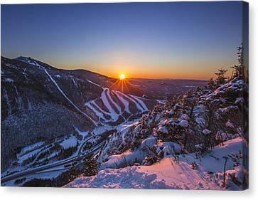 Last Winter Sunset Over Cannon Mountain Canvas Print