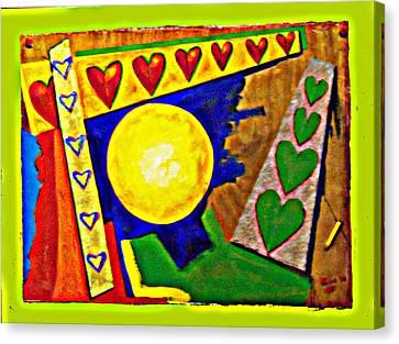 Lastimamos Los Que Mas Amamos Canvas Print by Elio Lopez