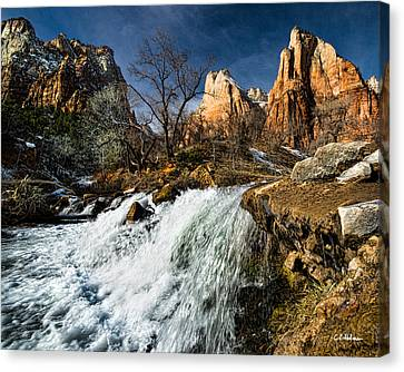 Late Afternoon At The Court Of The Patriarchs Canvas Print by Christopher Holmes