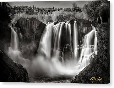 Late Afternoon At The High Falls Canvas Print by Rikk Flohr