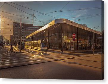 Late Afternoon At The Transport Hub Canvas Print