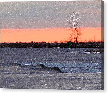 Late Afternoon By The Lake 2 Canvas Print by Lyle Crump