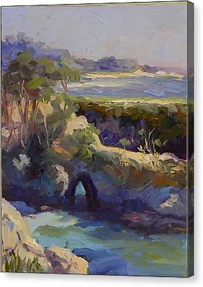 China Cove Canvas Print - Late Afternoon China Cove by Maryanne  Jacobsen