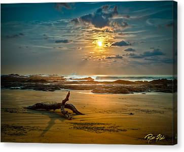 Canvas Print featuring the photograph Late Afternoon Costa Rican Beach Scene by Rikk Flohr