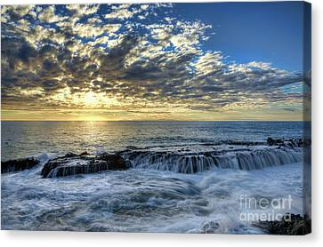Canvas Print featuring the photograph Late Afternoon In Laguna Beach by Eddie Yerkish