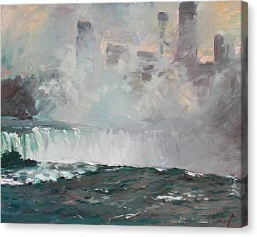 Late Afternoon In Niagara Falls Canvas Print by Ylli Haruni