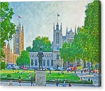 Late Afternoon In Parliament Square Canvas Print by Digital Photographic Arts