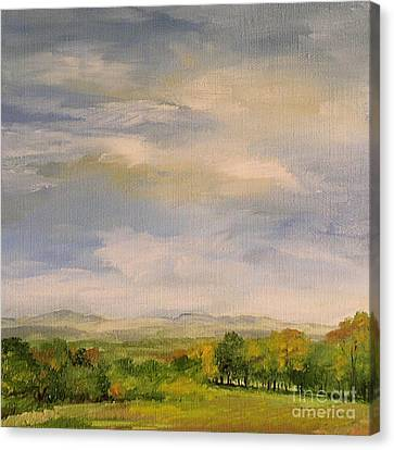 Late Afternoon In Vermont  Canvas Print