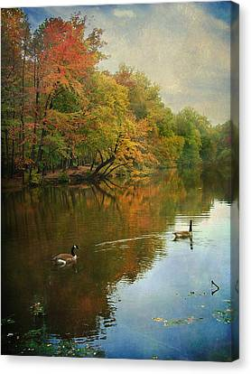 Canvas Print featuring the photograph Late Afternoon by John Rivera