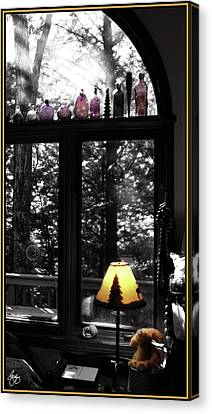 Canvas Print featuring the photograph Late Afternoon Light Across Arch Window by Wayne King