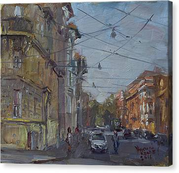 Late Afternoon Light - Regina Margherita -rome Canvas Print by Ylli Haruni