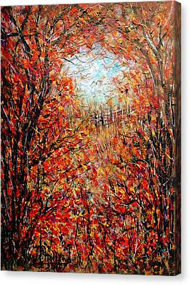 Late Autumn Canvas Print by Natalie Holland