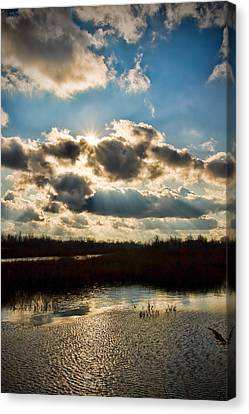 Late Evening By The River Canvas Print by Michel Filion