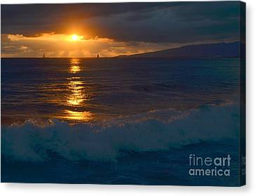 Canvas Print - Late Evening Sunset Waikiki Hawaii - 16 by Mary Deal