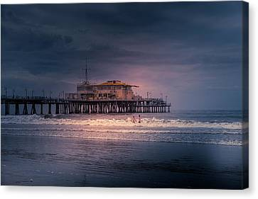 Late Evening Swim Canvas Print