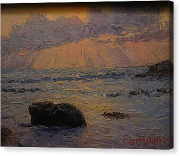 Late Light Knights Point Canvas Print by Terry Perham