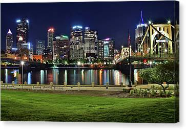 Late Night Along The River Canvas Print