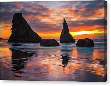 Canvas Print featuring the photograph Late Night Cloud Dance by Darren White