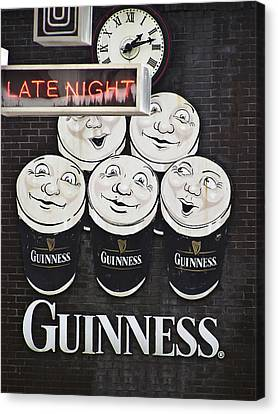 Patrick Canvas Print - Late Night Guinness Limerick Ireland by Teresa Mucha