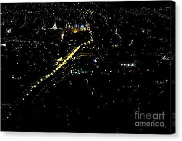 Canvas Print featuring the photograph Late Night In Cuenca, Ecuador by Al Bourassa