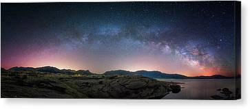 Late Night Milky Show Canvas Print