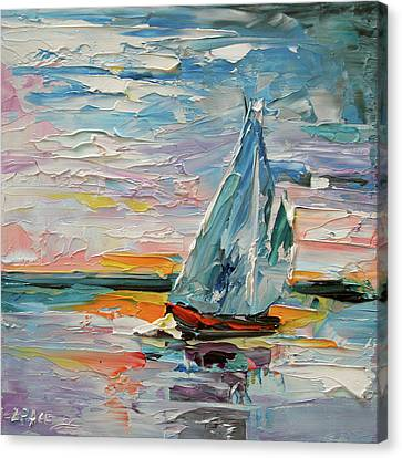 Late Night Sail Canvas Print