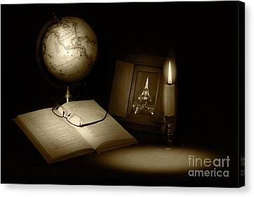 Canvas Print - Late Night Studying by Cecil Fuselier