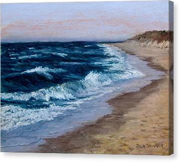 Canvas Print featuring the painting Late Spring At Cold Storage Beach by Jack Skinner
