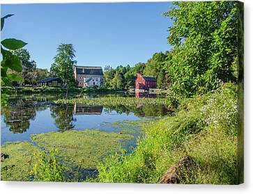 Late Summer - The Red Mill  On The Raritan River - Clinton New J Canvas Print by Bill Cannon