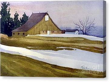 Late Winter Melt Canvas Print by Donald Maier