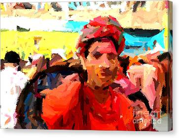 Lathmaar Holi Of Barsana-1 Canvas Print