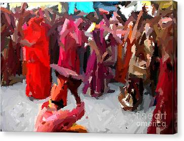 Lathmaar Holi Of Barsana-2 Canvas Print