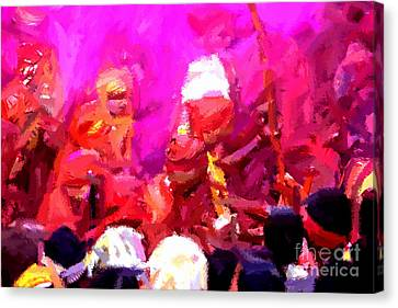 Lathmaar Holi Of Barsana-3 Canvas Print