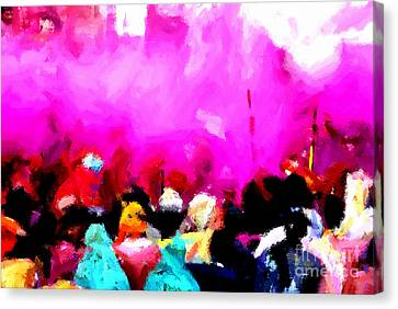 Lathmaar Holi Of Barsana-5 Canvas Print