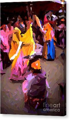 Lathmaar Holi Of Barsana-6 Canvas Print