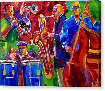 Latin Music Canvas Print by Debra Hurd
