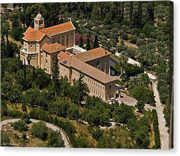 Latrun Monastery Of Silence 2 Canvas Print by Arik Baltinester